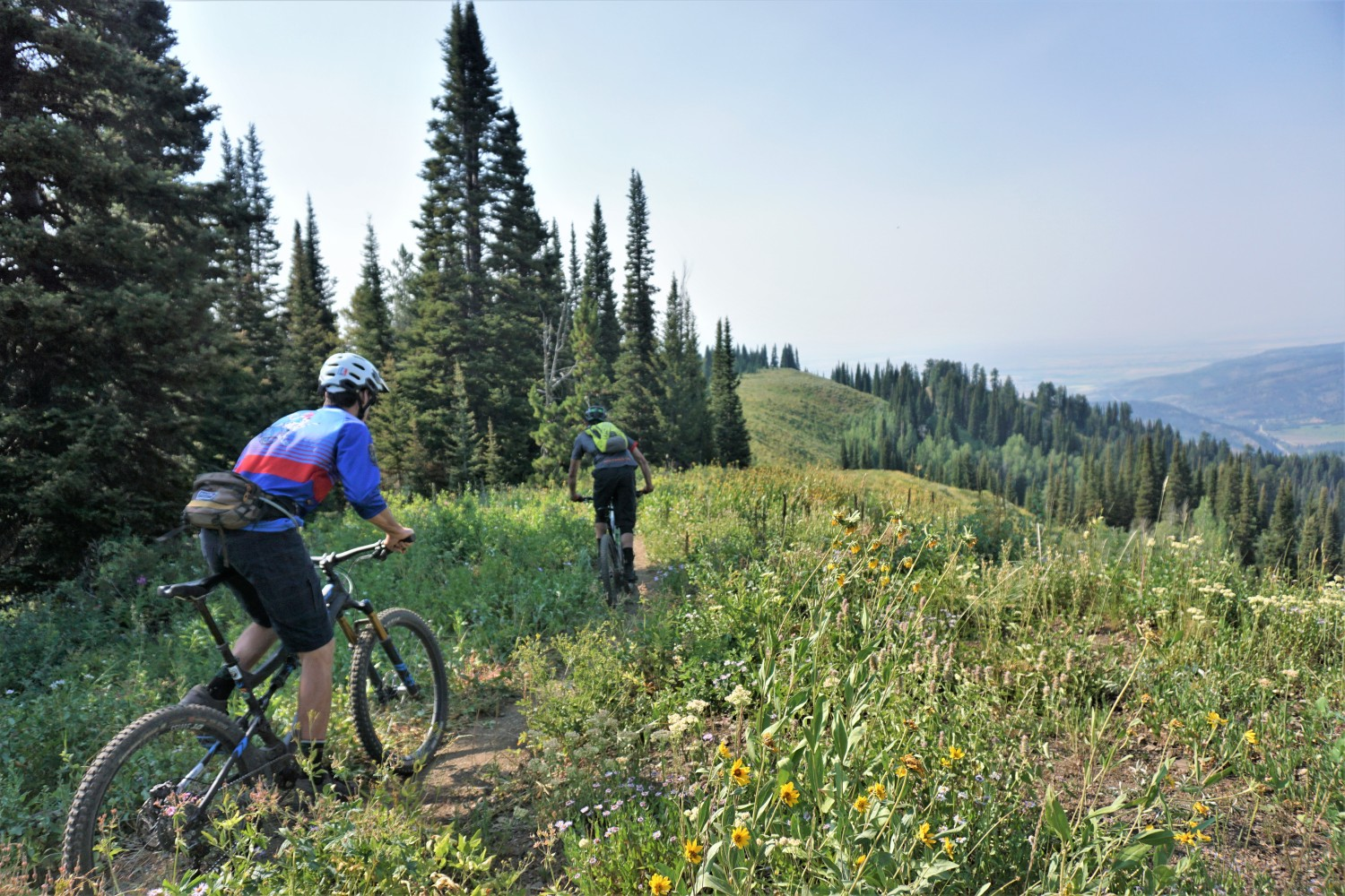 Mountain bike the Tetons